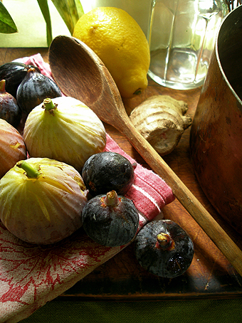 Still life for fig jam
